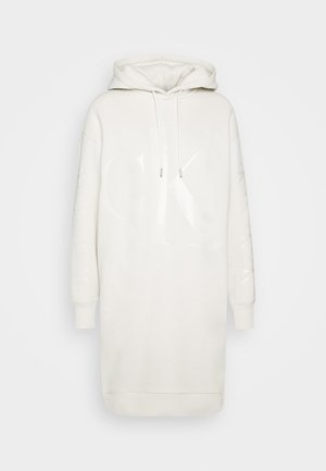ECO LOGO HOODIE DRESS - Sukienka letnia - soft cream