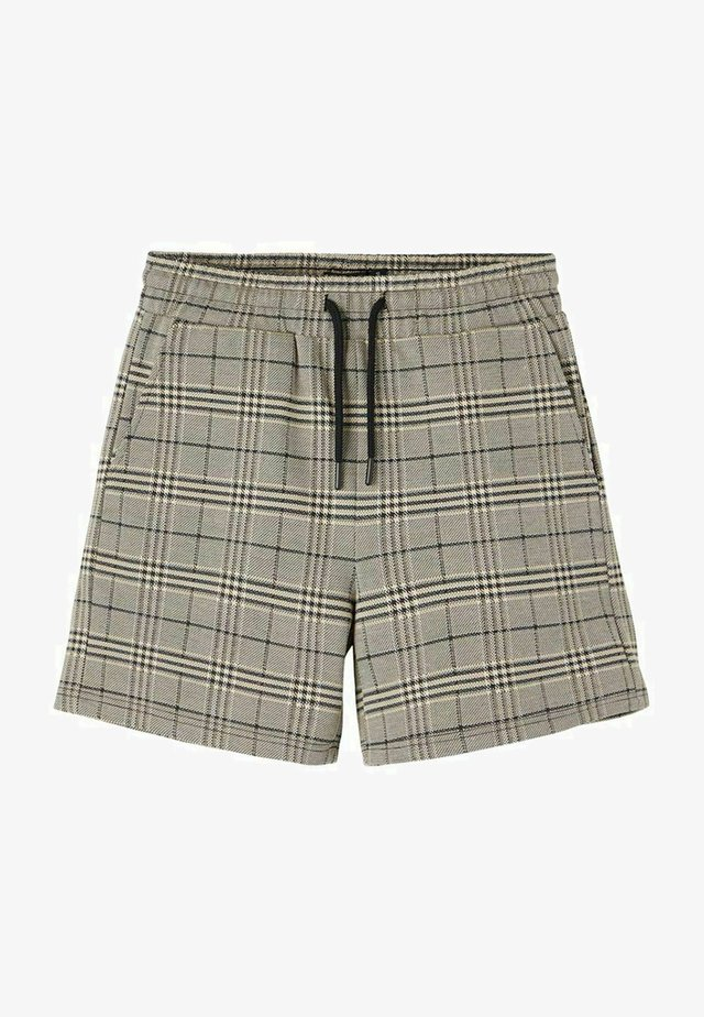 KARIERT REGULAR FIT - Shorts - black