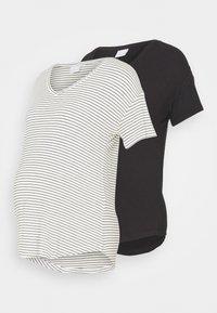 MAMALICIOUS - MLALISON MIX 2 PACK - T-shirt z nadrukiem - black/snow white - 0