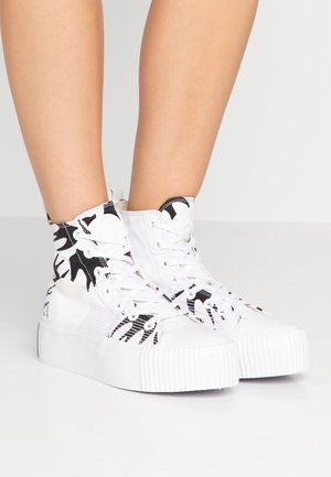 PLIMSOLL PLATFORM  - Sneakersy wysokie - white/black