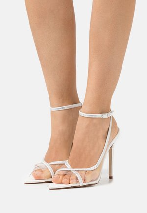 TAMINA - Klassiske pumps - clear/white