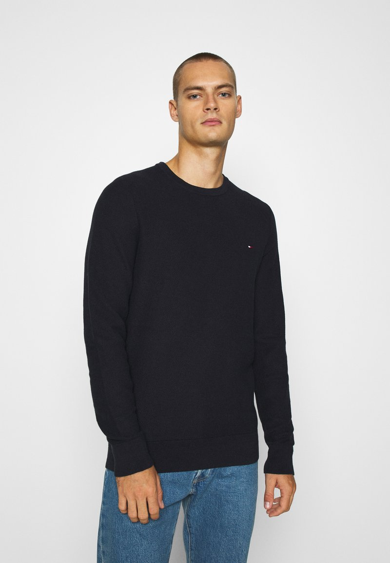Tommy Hilfiger - HONEYCOMB CREW NECK - Sweter - blue
