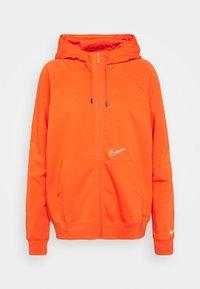 HOODIE  - Zip-up sweatshirt - orange