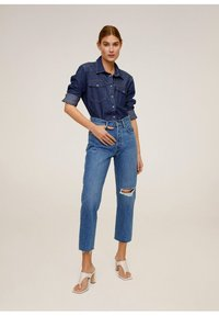 Mango - HAVANA - Straight leg jeans - donkerblauw - 1