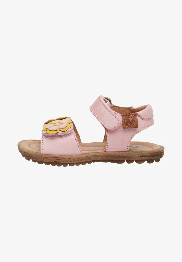 BEGONIA CON APPLICAZIONE DI FIORI - Sandals - pink