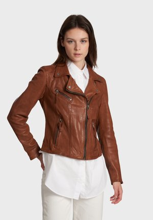 CLIPS - Leather jacket - brown