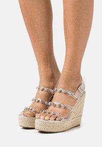 BEBO - VILLA - Platform sandals - clear - 0