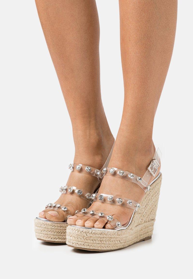 BEBO - VILLA - Platform sandals - clear