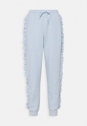 ONLAVA FRILL  - Tracksuit bottoms - cashmere blue