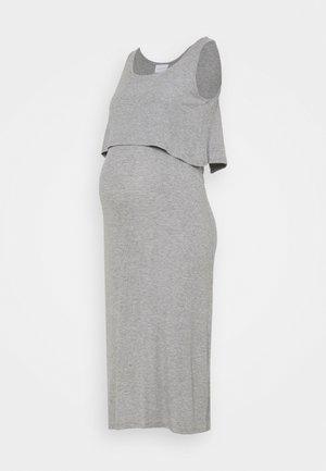 NURSING DRESS - Vestido informal - light grey melange
