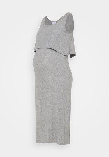 NURSING DRESS - Maxikjole - light grey melange