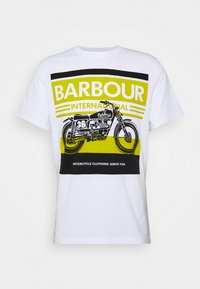 Barbour International - BURN TEE - Print T-shirt - white - 4