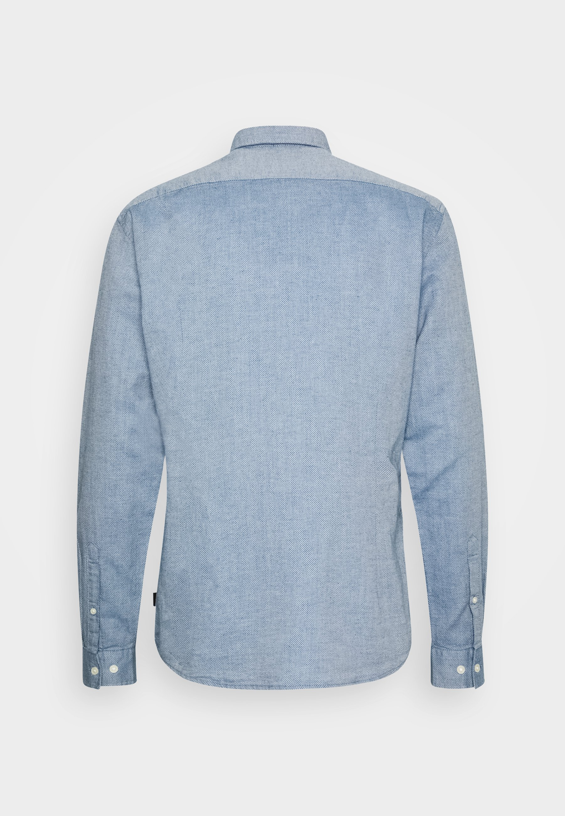 Esprit Slub Struct - Hemd Grey/blue