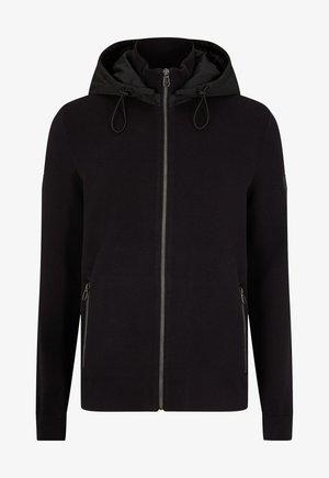 HUGHES - Zip-up sweatshirt - schwarz