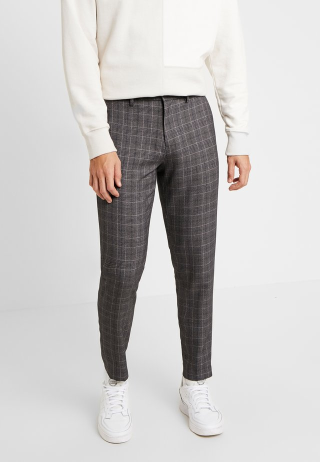 CHECK CLUB PANTS - Pantalones - grey mix