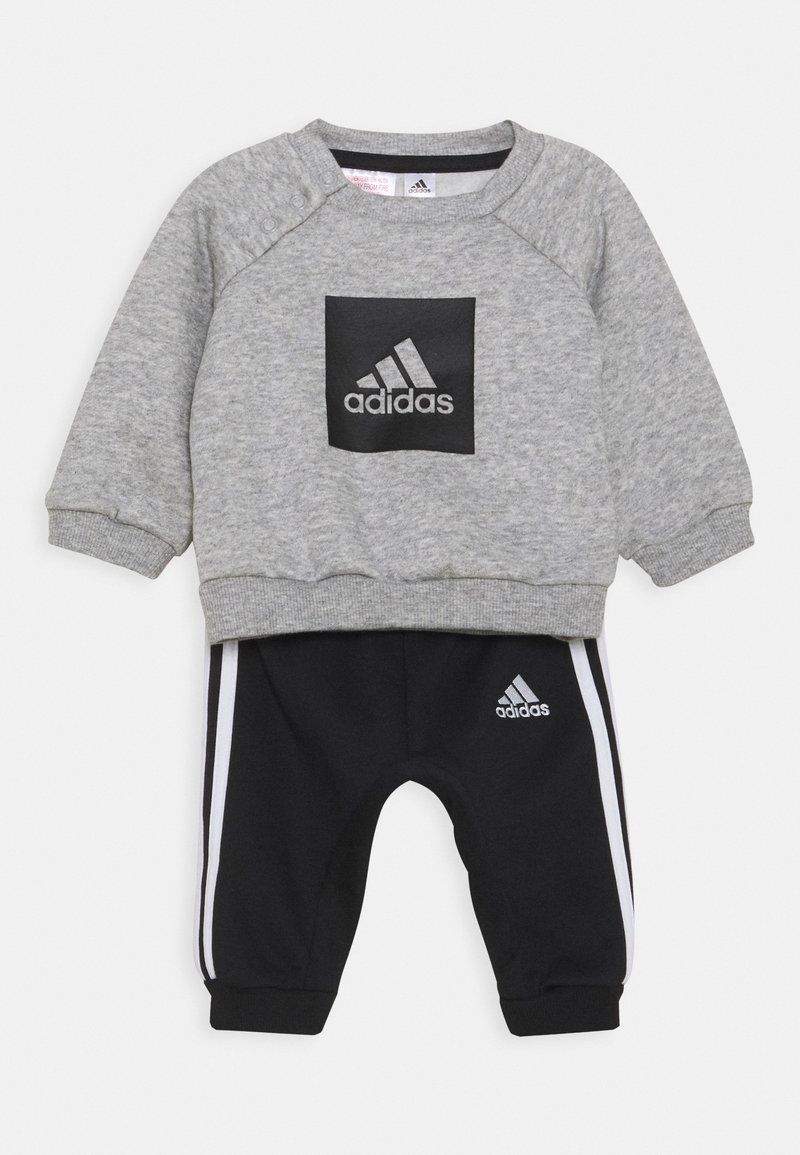 adidas Performance - LOGO SET UNISEX - Trainingspak - medium grey heather/black