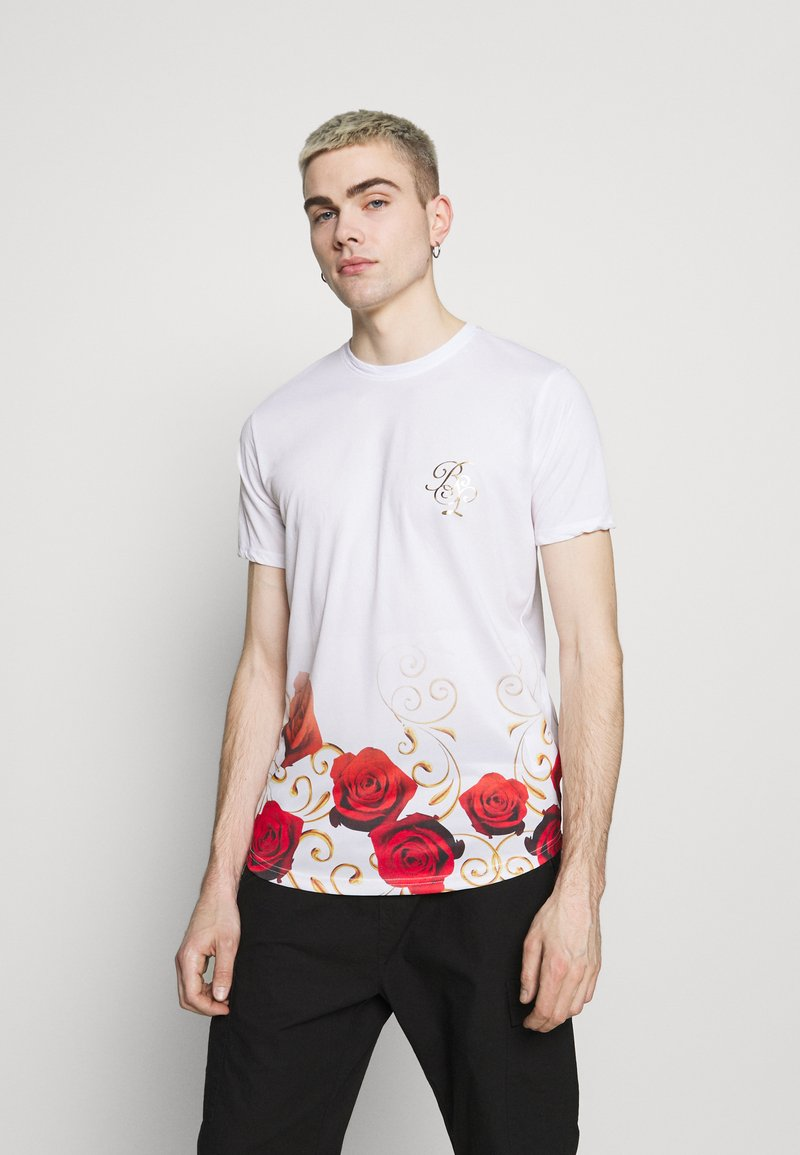 Brave Soul - GOLDEN - Print T-shirt - optic white