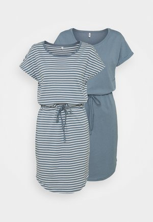 ONLMAY LIFE DRESS 2 PACK - Jerseykjole - blue mirage