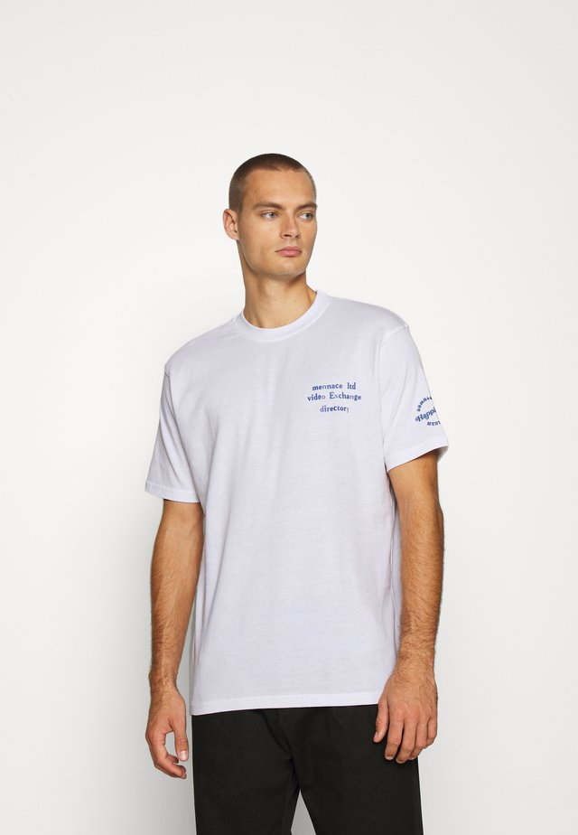 UNISEX SS VIDEO EXCHANGE - T-shirt imprimé - white