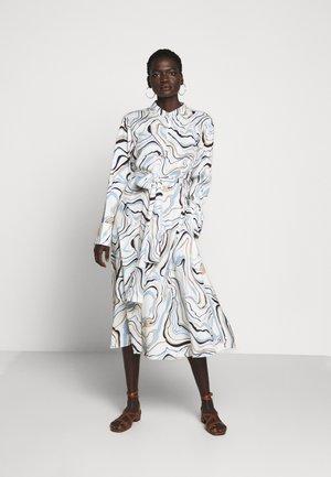 MARBLE BUTTON DOWN DRESS - Abito a camicia - ivory/multi