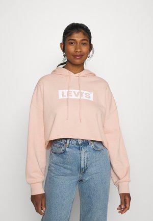 GRAPHIC CROP PRISM - Sweatshirt - light pink