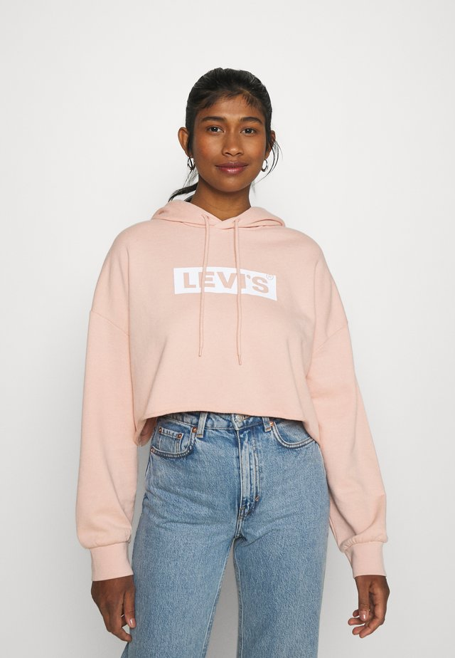 GRAPHIC CROP PRISM - Mikina - light pink