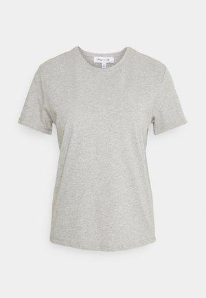BASIC CREW NECK - Basic T-shirt - grey marl