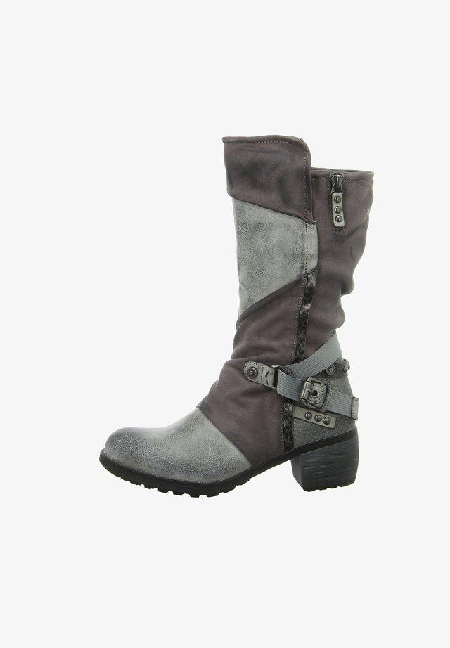 Cowboy/Biker boots - grey