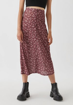 A-line skirt - light red
