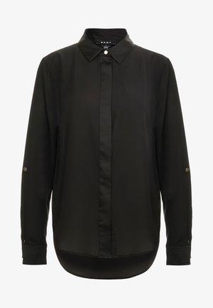FOUNDATION ROLL TAB THRU HIDDEN PLACKET - Button-down blouse - black