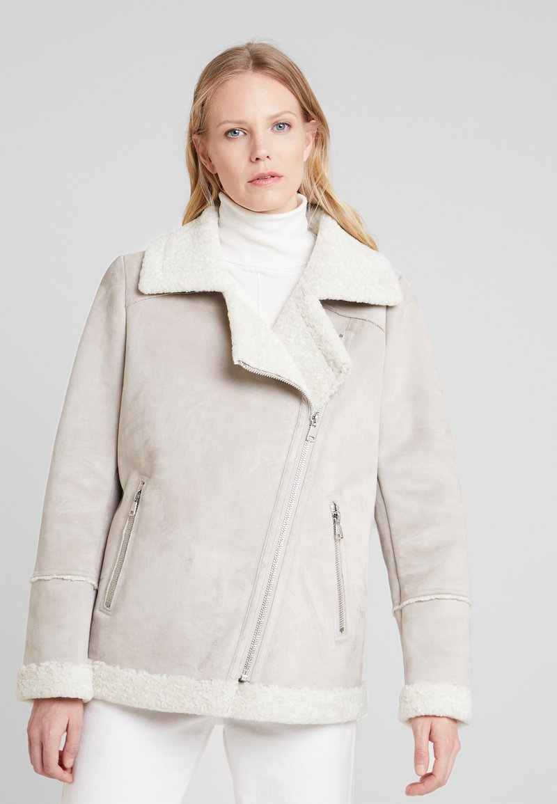 Oakwood - Faux leather jacket - light grey