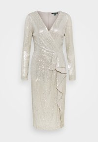 Lauren Ralph Lauren - MILLBROOK DRESS - Koktejlové šaty/ šaty na párty - silver frost shin - 5