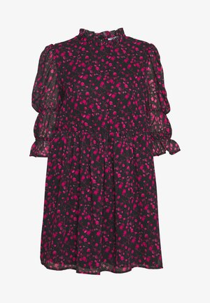 MINI DRESS - Vestito elegante - black/pink