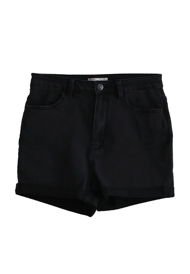Shorts di jeans - schwarz