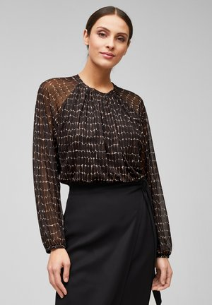 Blouse - black aop