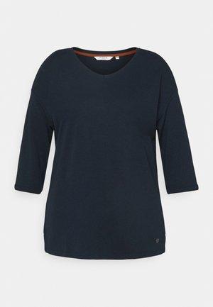 V-NECK - T-shirt à manches longues - sky captain blue