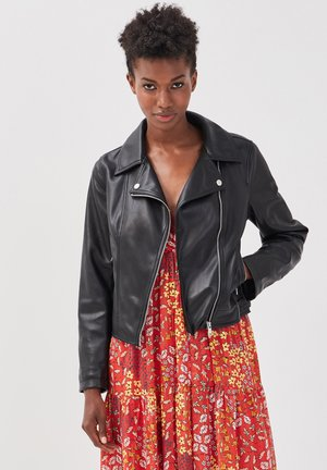 Faux leather jacket - noir