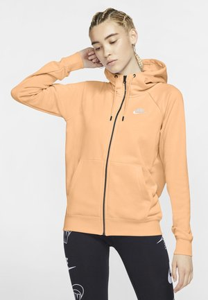 Zip-up hoodie - orange chalk/white