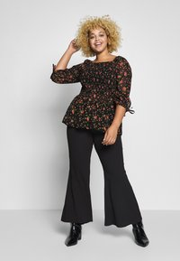 Simply Be - SHIRRED BLOUSE - Blouse - black - 1
