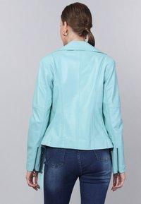 Basics and More - Leather jacket - mint - 1