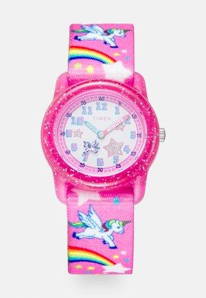 YOUTH ANALOG PINK STRAP RAINBOW UNICORN - Hodinky - pink