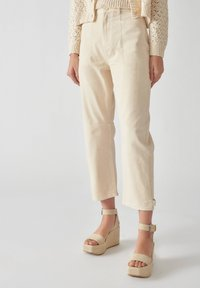 PULL&BEAR - Relaxed fit jeans - beige - 0