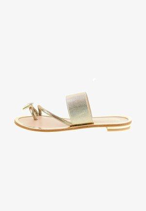 IROMITIANO - Sandály s odděleným palcem - gold