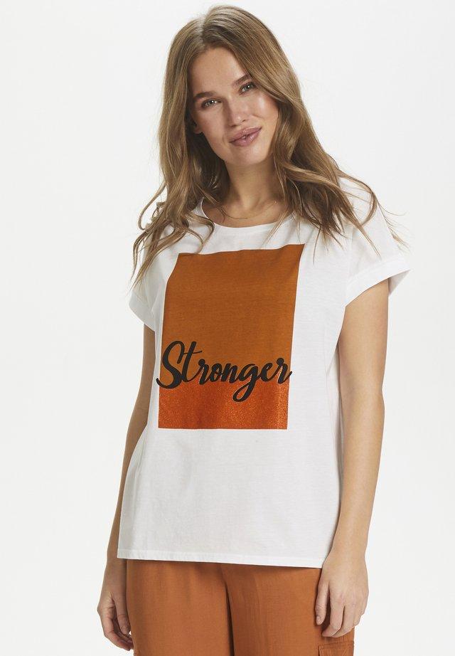 BRITNEYSZ  - Print T-shirt - bright white