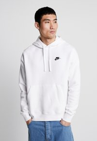 Nike Sportswear - CLUB HOODIE - Felpa con cappuccio - white/black - 0