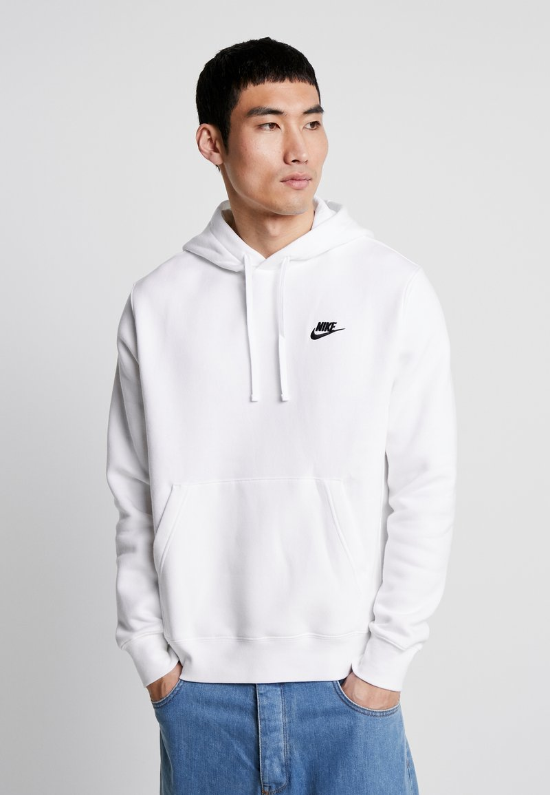 Nike Sportswear - CLUB HOODIE - Felpa con cappuccio - white/black