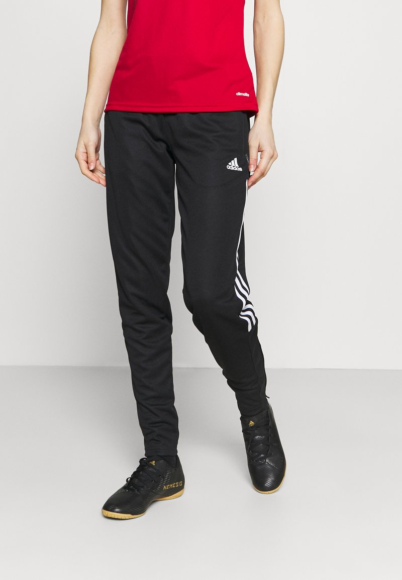 adidas Performance - TIRO - Tracksuit bottoms - black/white
