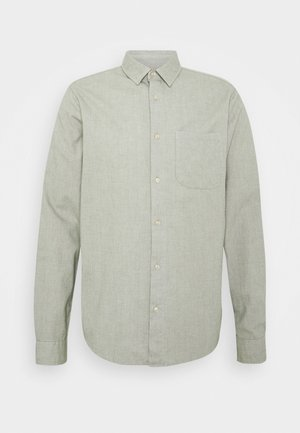 BRUSHED OXFORD SHIRT - Shirt - grey melange