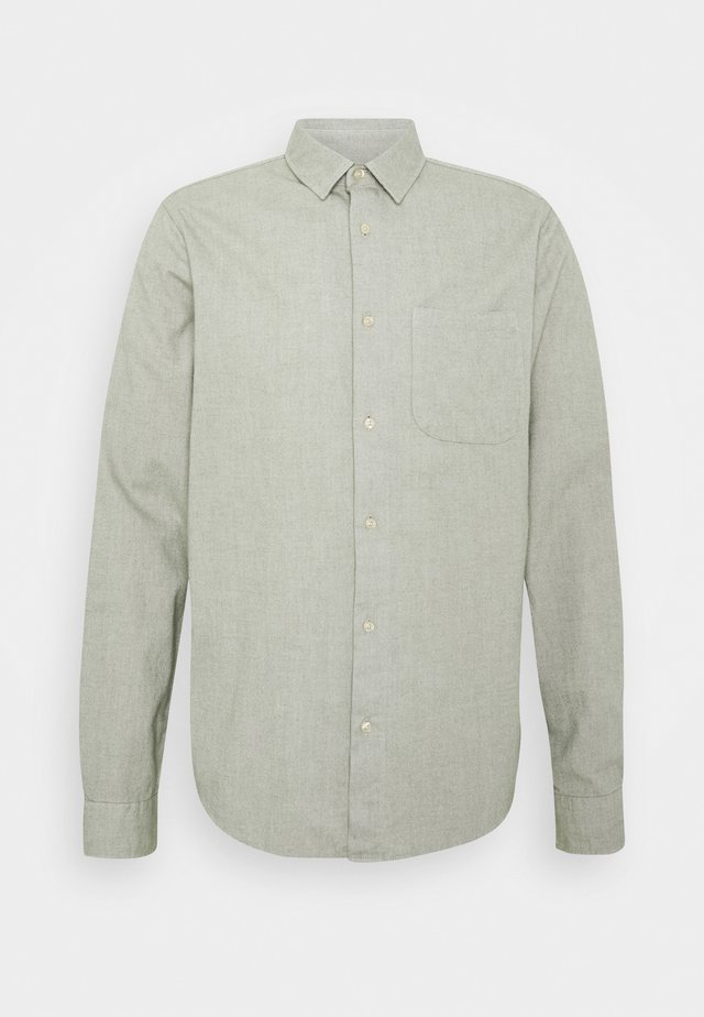BRUSHED OXFORD SHIRT - Shirt - grey melange