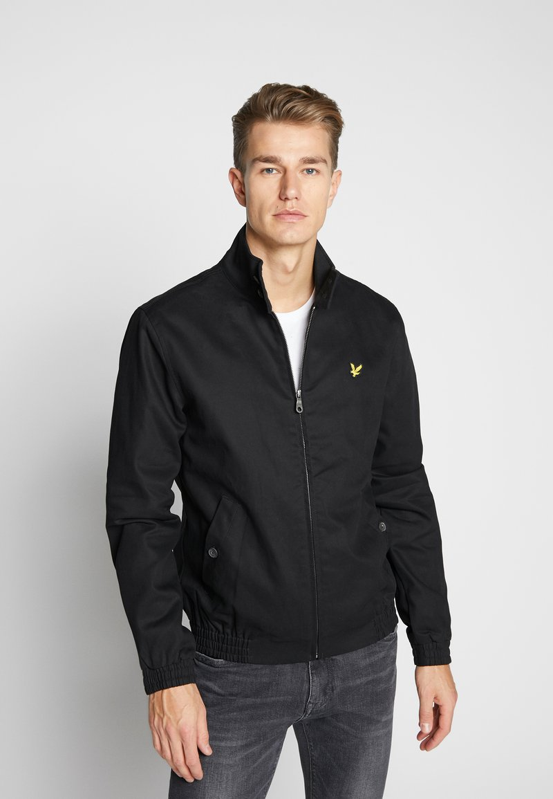 Lyle & Scott - HARRINGTON JACKET - Tunn jacka - jet black
